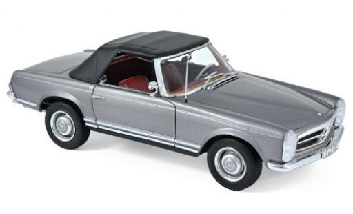 Mercedes 230 1/18 Norev SL (W113) metallise anthrazit 1963 SoftTop couché ein miniature