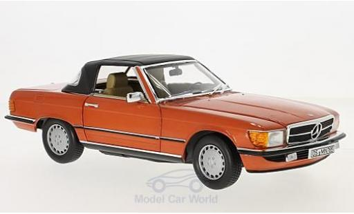 Mercedes 300 SL 1/18 Norev metallise rouge 1986 miniature