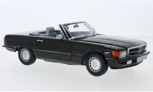 Mercedes 300 1/18 Norev SL (R107) metallise anthrazit 1986 avec détachable Hardtop miniature