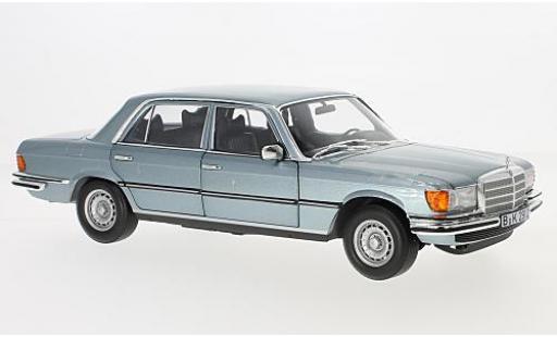 Mercedes 450 1/18 Norev SEL 6.9 metallise bleue 1976 miniature