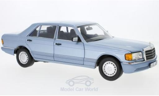Mercedes 560 SEL 1/18 Norev (W126) metallise blue 1991 diecast model cars