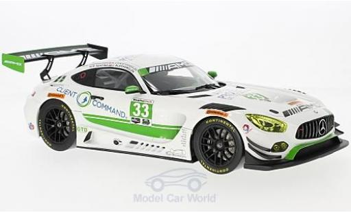 Mercedes AMG GT 1/18 Norev 3 No.33 Team Riley 24h Daytona 2017 M.Farnbacher/B.Keating/A.Christodoulou/J.Bleekemolen diecast model cars