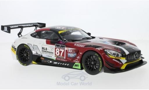 Mercedes AMG GT 1/18 Norev 3 No.87 Blancpain GT Series Monza 2016 J.-C.Beaubelique/M.Ricci/G.Vannelet diecast model cars