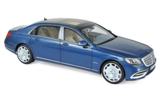 Mercedes Classe S 1/18 Norev Maybach S650 metallise bleue 2018 miniature
