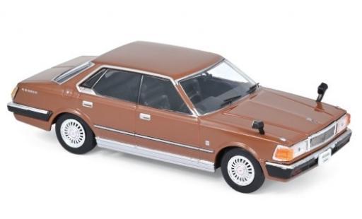 Nissan Cedric 1/43 Norev 430 marron RHD 1979 miniature