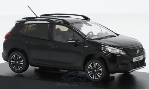 Peugeot 2008 1/43 Norev GT Line negro 2016 miniatura