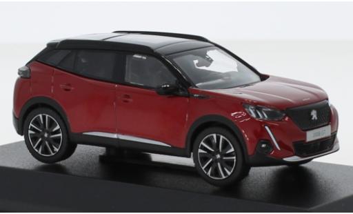 Peugeot 2008 1/43 Norev GT metallise rouge/noire 2020 miniature