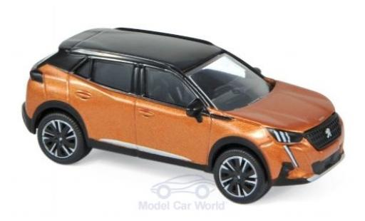 Peugeot 2008 1/64 Norev metallise orange/noire 2020 miniature