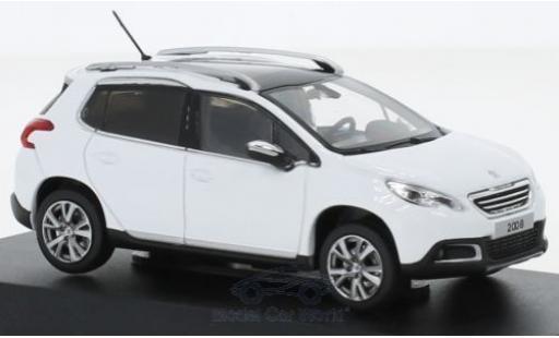 Peugeot 2008 1/43 Norev blanche 2013 miniature