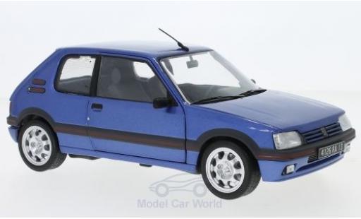 Peugeot 205 GTI 1/18 Norev GTi 1.9 metallise blue 1992 diecast model cars
