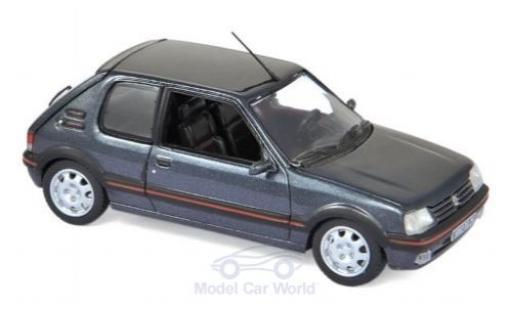 Peugeot 205 1/43 Norev GTi 1.9 metallise grey 1992 diecast model cars
