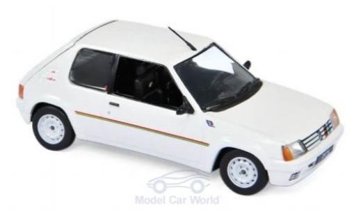 Peugeot 205 1/43 Norev Rallye blanche/Dekor 1988 miniature