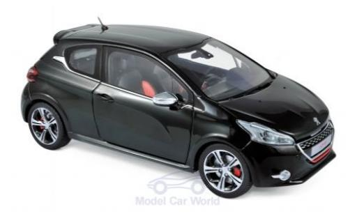 Peugeot 208 1/18 Norev GTi metallise black 2013 diecast model cars