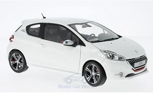 Peugeot 208 1/18 Norev GTi white 2013 diecast model cars
