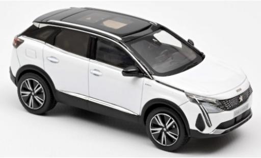 Peugeot 3008 1/43 Norev GT Hybrid4 metallise blanche 2020 miniature