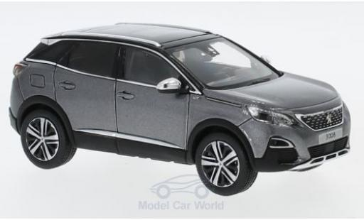 Peugeot 3008 1/43 Norev GT metallise grise 2016 miniature