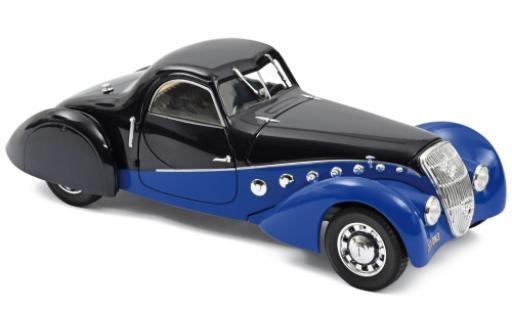 Peugeot 302 1/18 Norev Darl Mat Coupe bleue/bleue 1937 miniature