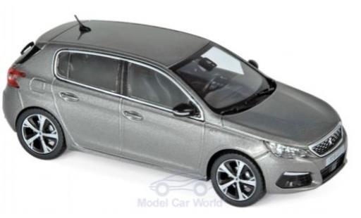Peugeot 308 1/43 Norev GT metallic grey 2017 diecast