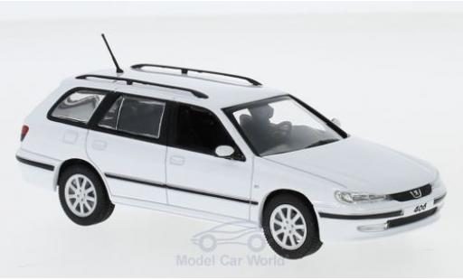 Peugeot 406 1/43 Norev Break white 2003 diecast