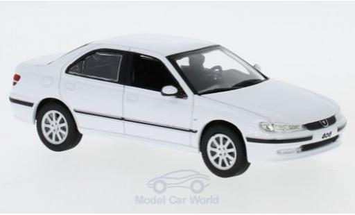 Peugeot 406 1/43 Norev white 2003 diecast model cars