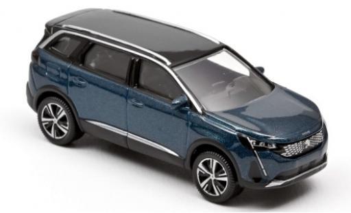 Peugeot 5008 1/64 Norev metallise bleue/noire 2020 miniature