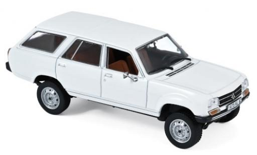 Peugeot 504 1/43 Norev Break Dangel blanche 1980 miniature