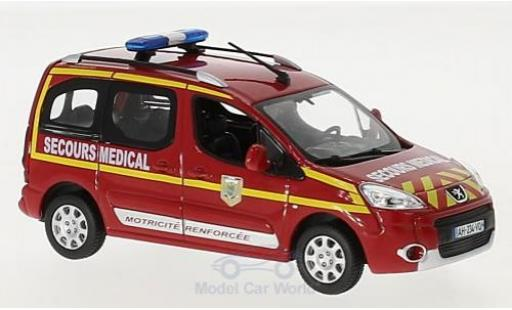 Peugeot Partner 1/43 Norev Pompiers Secours Medical 2010 miniature