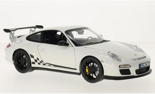 Porsche 997 GT3 RS 1/18 Norev 911 white/Dekor 2010 diecast model cars