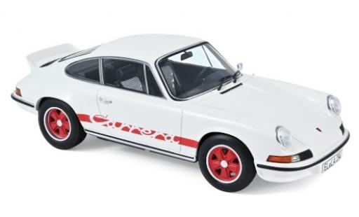 Porsche 911 1/18 Norev RS touring white/red 1973 diecast model cars