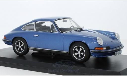 Porsche 911 1/18 Norev S metallise blue 1973 diecast model cars