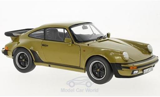 Porsche 930 Turbo 1/18 Norev Turbo 3.3 oliv 1977 miniatura