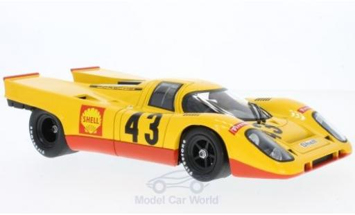 Porsche 917 1970 1/18 Norev K No.43 Racing Team AAW 1000 Km Spa Francorchamps H.Laine/G.van Lennep diecast model cars