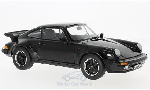 Porsche 930 Turbo 1/18 Norev 3.3 black 1977 ohne Vitrine diecast model cars