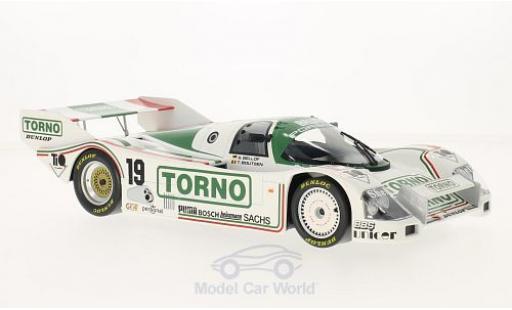 Porsche 962 1985 1/18 Norev C No.19 Brun Torno 1000 km Mugello T.Boutsen/S.Bellof diecast model cars