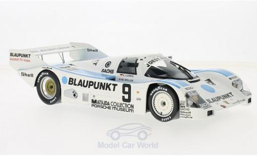 Porsche 962 1987 1/18 Norev C No.9 Joest Racing Blaupunkt 1000 Km Nürburgring 1987 K.Ludwig/B.Wollek miniature