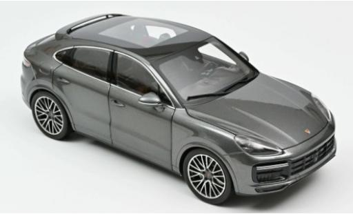 Porsche Cayenne Turbo 1/18 Norev Coupe metallise grise 2019 miniature