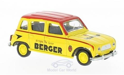 Renault 4 L 1/64 Norev yellow/red Cycliste Berger (F) 196 diecast