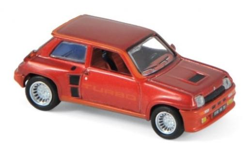 Renault 5 1/87 Norev Turbo metallise red 1980 diecast model cars