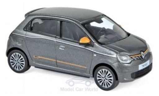 Renault Twingo 1/43 Norev métallisé grise/orange 2019 miniature