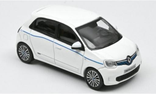 Renault Twingo 1/43 Norev Z.E. blanche/bleue 2020 miniature