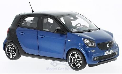 Smart ForFour 1/18 Norev forfour metallic-bleue/noire 2015 miniature