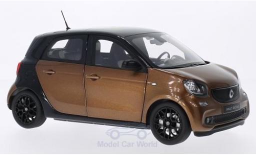 Smart ForFour 1/18 Norev Forfour métallisé bronze/noire 2014 miniature