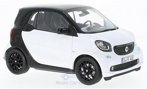 Smart ForTwo 1/18 Norev fortwo blanche/noire 2015 miniature