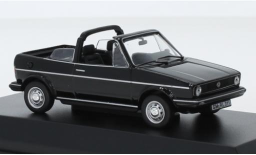 Volkswagen Golf 1/43 Norev I Cabriolet noire 1981 Softtop couché avec