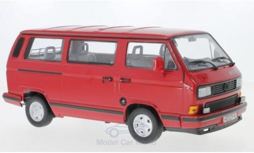 Volkswagen T3 A 1/18 Norev Multivan Redstar rouge 1992 miniature