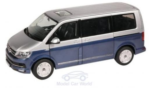 Volkswagen T6 1/18 NZG Multivan metallise bleue/grise 2015 Generation Six miniature