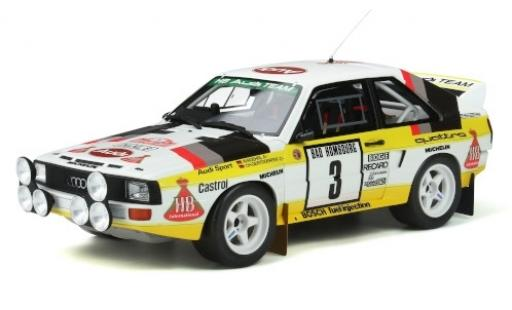 Audi Sport Quattro 1/18 Ottomobile Sport quattro Gr.B No.3 HB Team HB Rallye Monte Carlo 1985 W.Röhrl/C.Geistdörfer diecast model cars