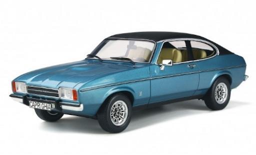 Ford Capri 1/18 Ottomobile MkII 3.0 Ghia metallise bleue/noire 1975 miniature