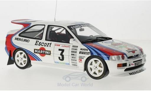 Ford Escort 1/18 Ottomobile RS Cosworth Gr.A No.3 Martini Rallye Mille Miglia 1995 F.Cunico/S.Evangelisti miniature