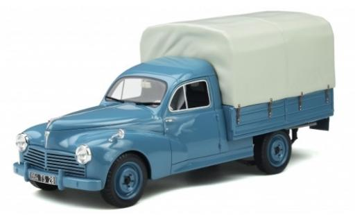 Peugeot 203 1/18 Ottomobile Pritsche bleue 1953 avec toile miniature